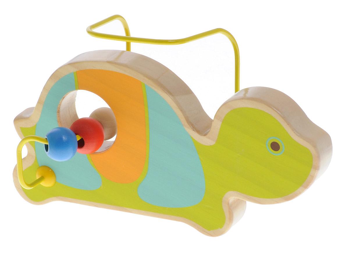 Мир деревянных игрушек Лабиринт ЧерепахаД349Лабиринт Мир деревянных игрушек Черепаха - это замечательная игрушка для малышей! Игрушка в виде черепахи выполнена из качественных материалов по европейским стандартам и покрыта специальной краской на водной основе, которая абсолютно безопасна для вашего малыша. Краска устойчива к воздействию влаги и нетоксична, рисунок на изделии долгое время будет сохранять яркость. Натуральное дерево, из которого изготовлена игрушка, прошло специальную обработку, в результате чего на модели не осталось острых углов или шероховатых поверхностей, которые могут повредить кожу ребенка. Производитель использует только экологически чистую новозеландскую сосну для производства своих игрушек. К игрушке прикреплена изогнутая проволока, по которой свободно могут двигаться фигурки, различные по цвету и форме. Мелкие детали не снимаются. Лабиринт способствует развитию моторики, тренирует мышцы кисти, отрабатывает круговые движения, стимулирует визуальное восприятие, когнитивное мышление,...