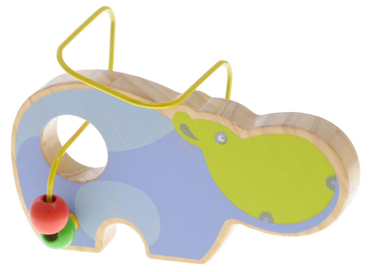 Мир деревянных игрушек Лабиринт БегемотД350Лабиринт Мир деревянных игрушек Бегемот - это замечательная игрушка для малышей! Игрушка в виде бегемота выполнена из качественных материалов по европейским стандартам и покрыта специальной краской на водной основе, которая абсолютно безопасна для вашего малыша. Краска устойчива к воздействию влаги и нетоксична, рисунок на изделии долгое время будет сохранять яркость. Натуральное дерево, из которого изготовлена игрушка, прошло специальную обработку, в результате чего на модели не осталось острых углов или шероховатых поверхностей, которые могут повредить кожу ребенка. Производитель использует только экологически чистую новозеландскую сосну для производства своих игрушек. К игрушке прикреплена изогнутая проволока, по которой свободно могут двигаться фигурки, различные по цвету и форме. Мелкие детали не снимаются. Лабиринт способствует развитию моторики, тренирует мышцы кисти, отрабатывает круговые движения, стимулирует визуальное восприятие, когнитивное мышление,...