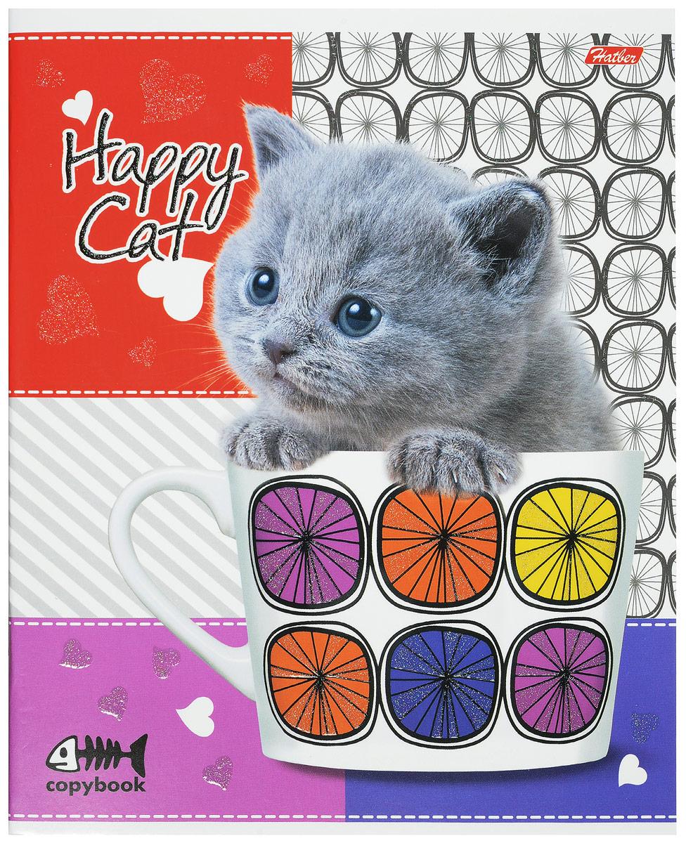 Hatber Тетрадь Happy Cat 48 листов в клетку 11365