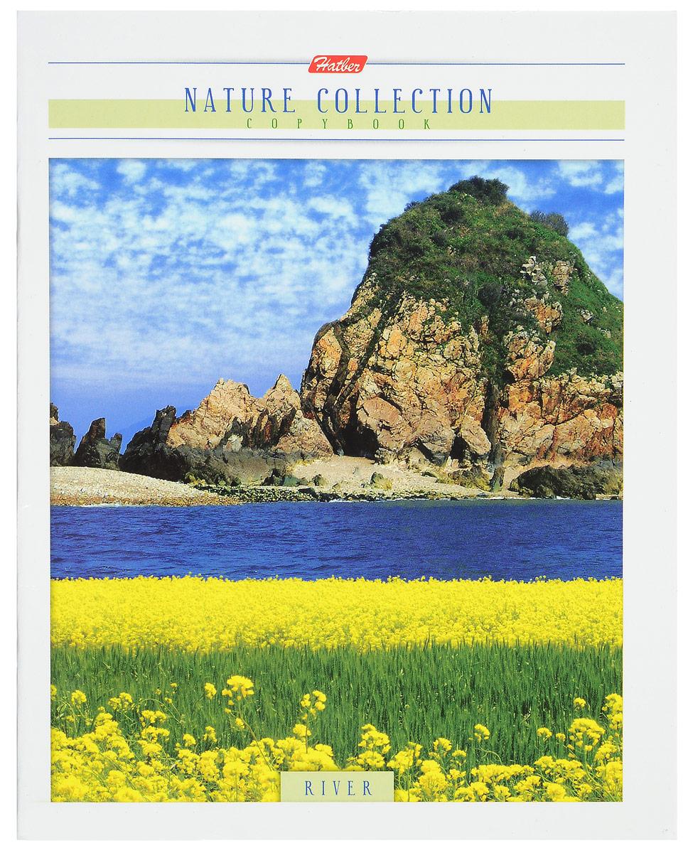 Hatber Тетрадь River 80 листов в клетку цвет темно-синий желтый зеленый80Т5В1_11532Тетрадь Hatber River отлично подойдет для занятий школьнику, студенту или для различных записей. Обложка, выполненная из плотного картона, украшена завораживающим пейзажем. Изображение передает всю роскошь естественной природы, наполнено чувством уюта и гармонии. Внутренний блок тетради, соединенный двумя металлическими скрепками, состоит из 80 листов белой бумаги в голубую клетку с полями.