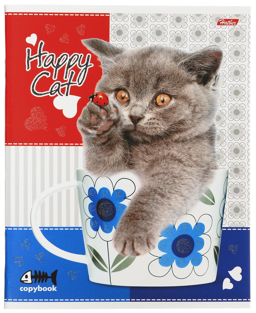 Hatber Тетрадь Happy Cat 48 листов в клетку 13549