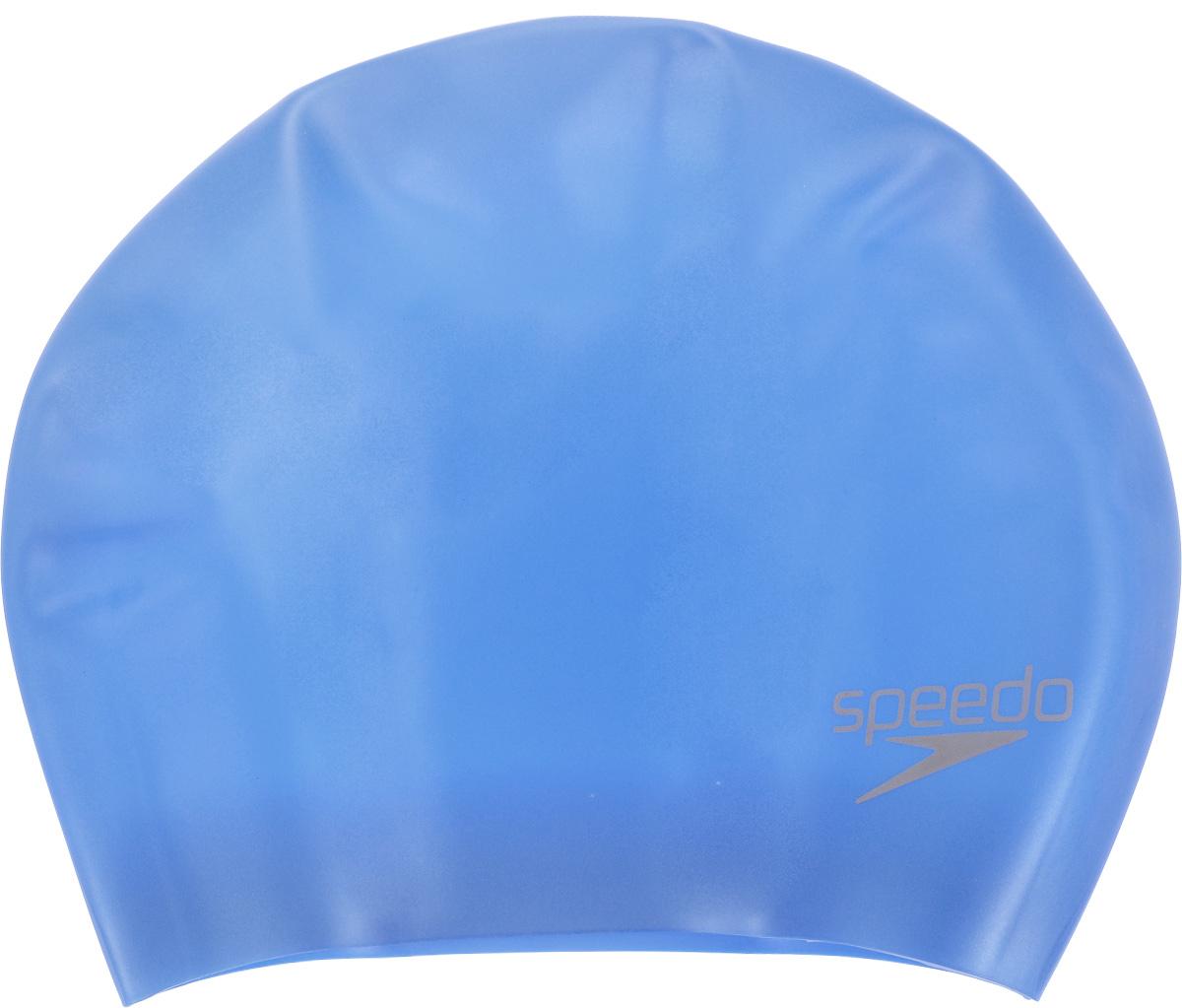 """Шапочка для плавания Speedo """"Long Hair Cap"""", цвет: голубой 8-061680309"""