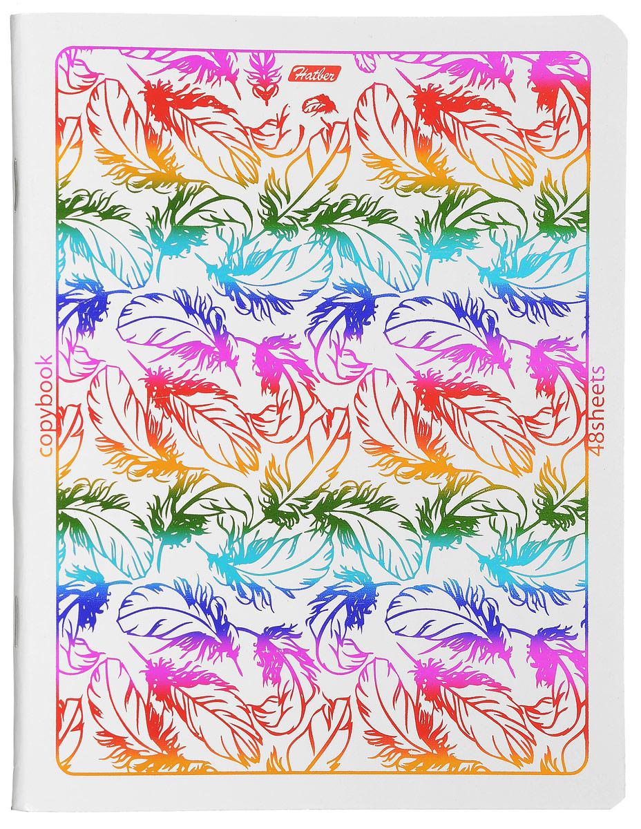 Hatber Тетрадь Rainbow 48 листов в клетку 14534