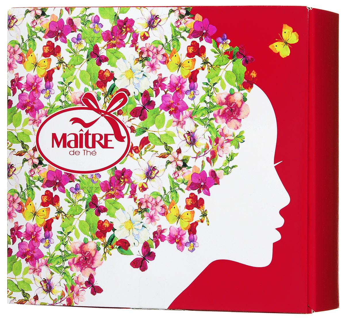 Maitre С праздником весны! черный листовой чай и печенье, 61 гбаж051Подарочный набор С праздником весны! порадует и удивит любую женщину. Внутри яркой коробки, украшенной цветочным рисунком, находится черный кенийский чай (25 г) и песочное печенье с корицей и яблоком (36 г). Жаркий, ароматный и нежный чай собран со склонов Великой Рифтовой Долины в Кении. Чай обладает мягким и насыщенным вкусом, с характерным оттенком муската. Безупречное сочетание вкусов разбудит вас светлым весенним утром или создаст романтичную атмосферу свежего, наполненного весенними ароматами вечера.