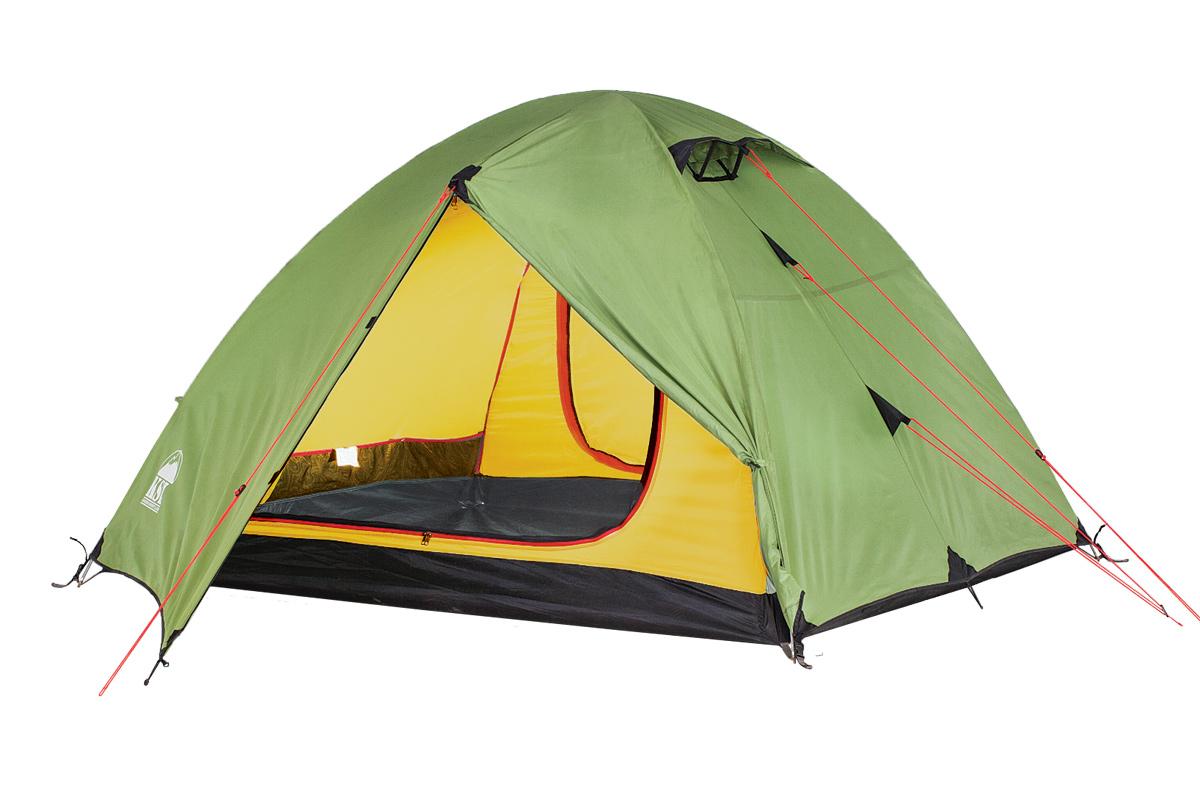 Палатка KSL Camp 36123.3401Эта вместительная трекинговая трехместная палатка KSL CAMP 3 с двумя входами - отличный выбор для тех, кто планирует отправляться в походы в весенний, летний или осенний период. Одна из главных особенностей модели - отличная вентиляция. В верхней части купола палатки расположены 2 вентиляционных окна - они обеспечат вам приток свежего воздуха в любое время. А благодаря ветровым клапанам, внутрь в случае дождя не попадет ни одной капли. Вам также не стоит опасаться нашествия насекомых - противомоскитная сетка обеспечит спокойные ночи без непрошеных гостей. Внутреннее пространство туристической палатки KSL CAMP 3 продумано до мелочей - палатку предусмотрительно оснастили полочкой, на которой можно разместить небольшие предметы, кольцом для фонарика и четырьмя карманами для часто необходимых вещей. У палатки имеется два вместительных тамбура, которые позволят вам хранить отдельно вещи (посуду, одежду) и обувь. Для усиления края тента палатки используется стропа, а все швы...