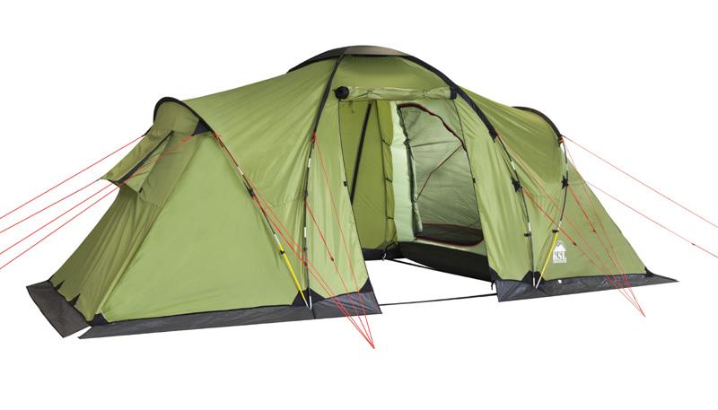 Палатка KSL Macon 46154.4201Вместительная кемпинговая палатка MACON 4 с двумя просторными спальнями - отличный выбор для туристов, предпочитающих путешествовать большой компанией. Палатку можно использовать как для отдыха выходного дня, так и для длительных походов в период отпуска. Кемпинговая палатка MACON 4 рассчитана на группу туристов в четыре человека. В каждой из ее спален могут комфортно разместиться двое туристов. Главная особенность этой палатки - огромный тамбур, позволяющий оставить в нем нагруженные рюкзаки либо разместить обеденный стол, за которым можно с комфортом пообедать, скрываясь от полуденного солнца. Внутренняя палатка удобно закрывается, благодаря чему спящих туристов не потревожит ветер. Прозрачная вставка, встроенная в прочную тентовую ткань из полиэстера, позволяет проникать во внутреннее пространство солнечному свету. Прочные стальные дуги - важный элемент каркаса палатки MACON 4, благодаря которому ткань не сворачивается и не провисает даже во время ветра. Еще одно...