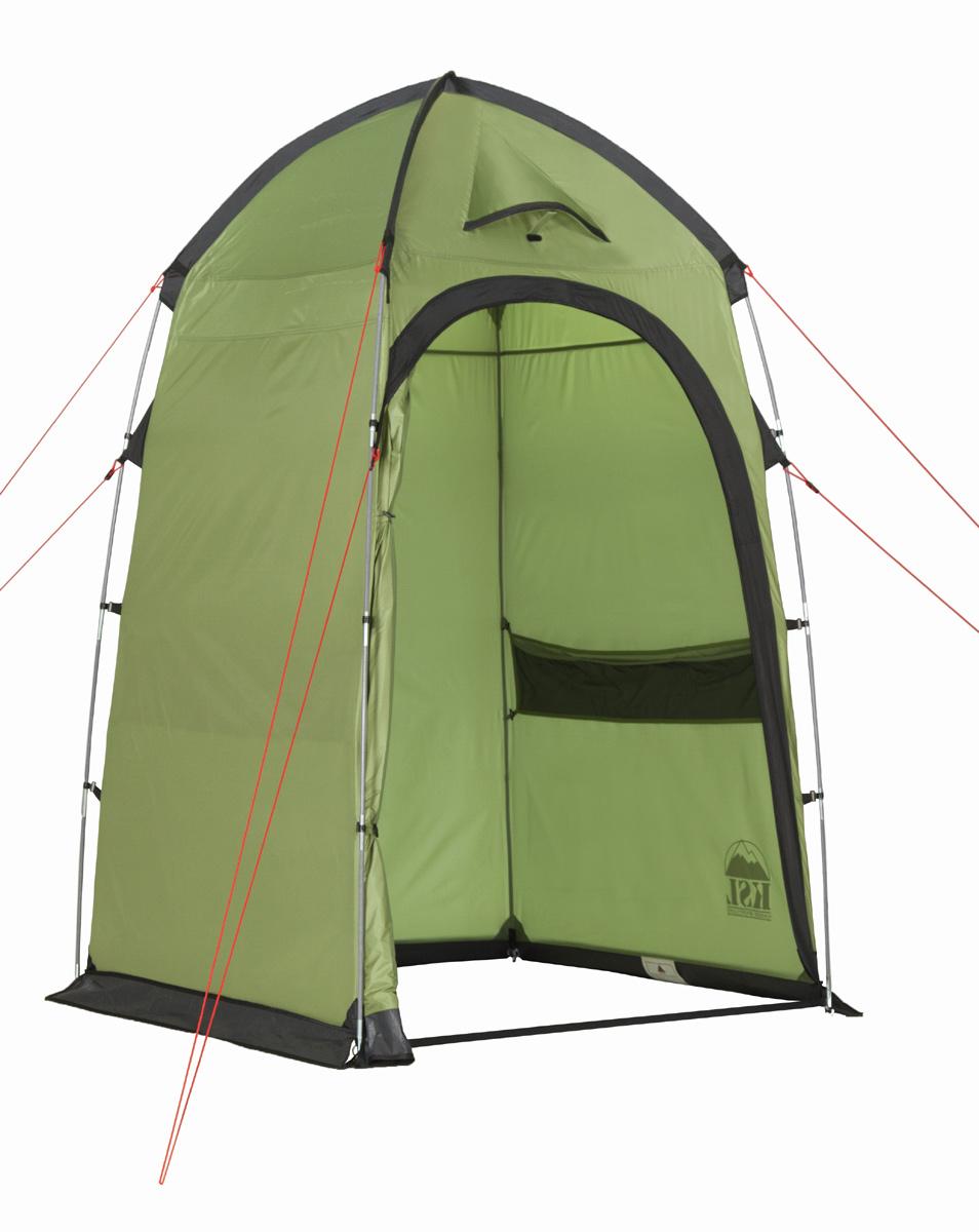 Палатка KSL Sanitary zone6159.0401Палатка-шатер для организации душа или туалета SANITARY ZONE - вещь первой необходимости для продолжительного отдыха на природе или длительного туристического похода, особенно большой компанией. Устанавливается шатер с помощью перекрестных дуг, по периметру оснащен ветрозащитным пологом. Шатер обладает эффективной вентиляционной системой, состоящей из двух окон, расположенных сверху купола, оборудованных ветровыми клапанами. Также шатер дополнительно вентилируется с помощью большой двери, застегивающейся на крепкую молнию с замком. Благодаря этому в шатре не скапливается влага и сырость после принятия душа. Высота шатра позволяет с комфортом принять душ человеку высокого роста, не испытывая при этом никаких неудобств. Тент шатра имеет хорошую сопротивляемость и водоотталкивающие свойства, швы дополнительно обработаны термоусадочной лентой и проклеены таким образом, чтобы шатер имела максимальную защиту от дождя и сквозняка. Дополнительное удобство дарит множество карманов на...