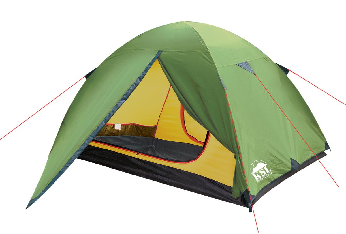 Палатка KSL Spark 36125.3401Трехместная палатка SPARK 3 предназначена для любителей треккинга, а потому главная ее особенность - небольшой вес и компактность. Тент палатки выполнен из двухслойного полиэстера - внешний слой более прочный, а внутренний - дышащий, благодаря которому внутри не скапливается конденсат при разнице температур на улице и в палатке. Такая структура тента совместно с облегченными алюминиевыми дугами позволяет значительно снизить вес палатки, не в ущерб прочности и надежности. Водостойкость тента и дна позволяет переждать в палатке серьезные осадки, оставаясь в сухости и тепле. Проклеенные швы также не дадут влаге просочиться внутрь палатки. В палатке SPARK 3 имеется просторный тамбур, где удастся разместить много вещей и походную кухню, а также два входа. Благодаря антимоскитным сеткам, защищающим вход, навязчивым насекомым не удастся испортить настроение отдыхающих. Приток свежего воздуха обеспечивается за счет вентиляционного окна, которое располагается вверху купола палатки и...