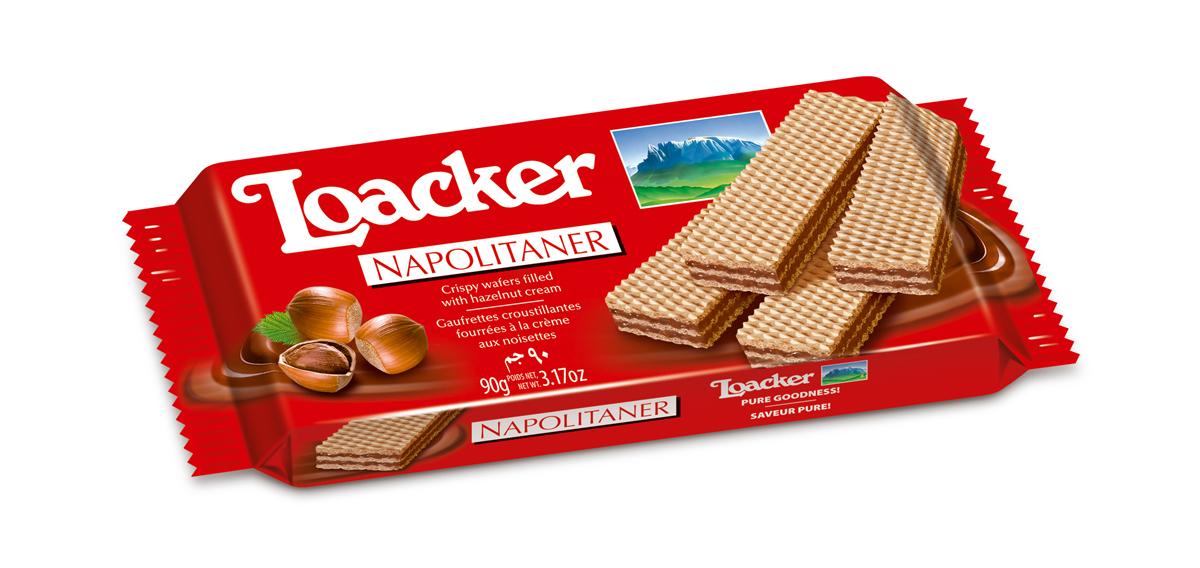 Loacker Наполитанер вафли, 90 г
