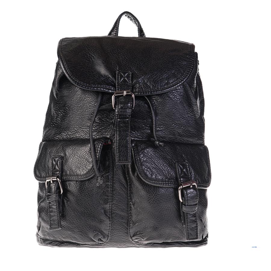 Рюкзак женский OrsOro, черный D-148/46D-148/46Рюкзак с двумя отделениями на молнии, два передних кармана на молнии - один объёмный, другой плоский, два боковых кармана на молнии. Внутренний карман на молнии, карман для телефона, задний карман на молнии