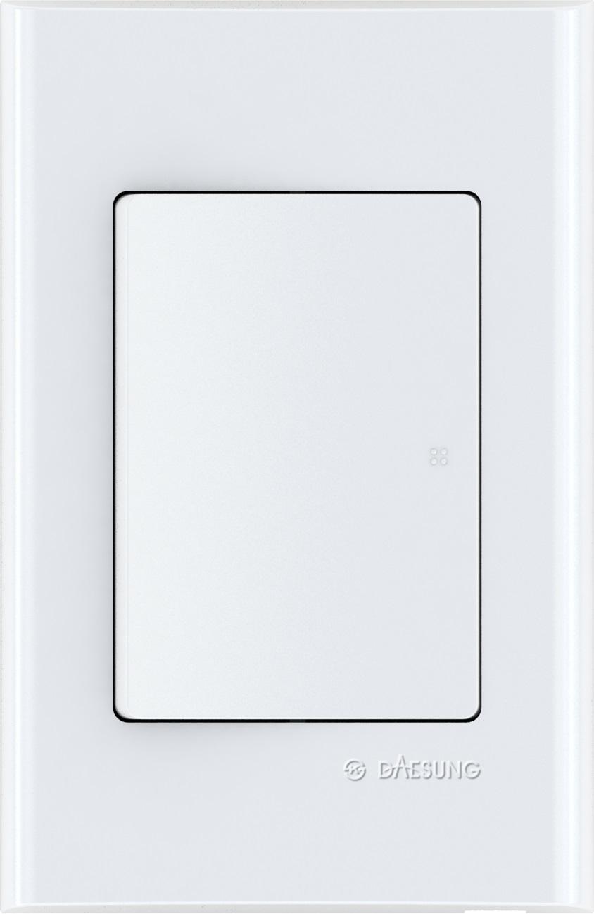 Выключатель одноклавишный Daesung, 1 выход. EFS1011EFS1011Корпус из поликарбоната (более ударопрочный, огнестойкий и экологичный материал)
