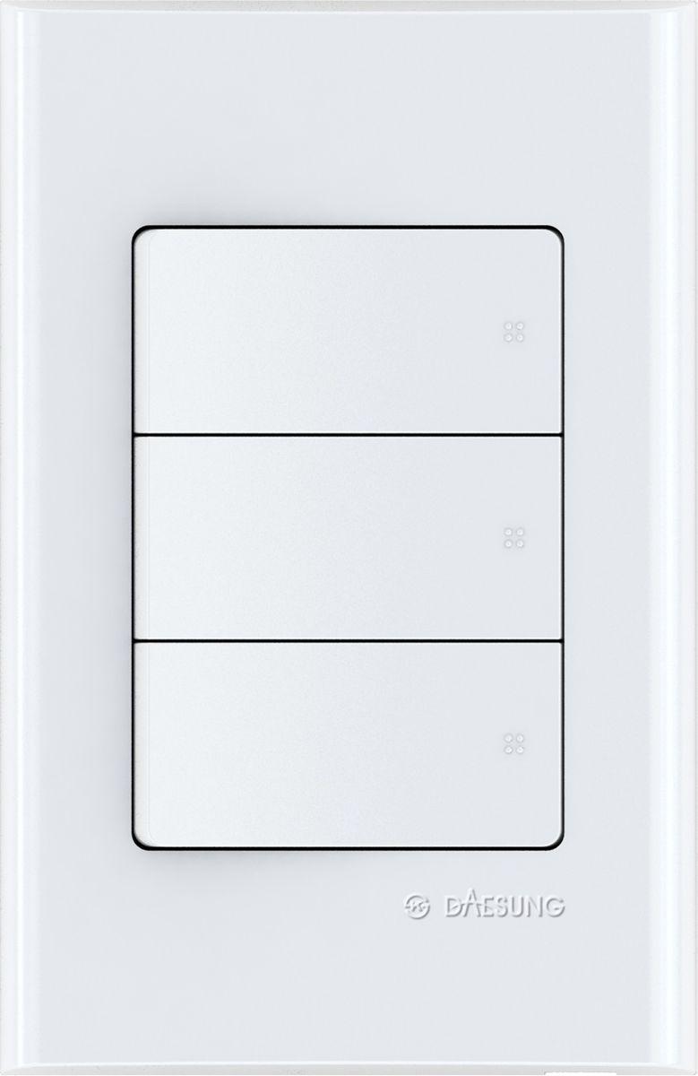 Переключатель трехклавишный Daesung, 3 выхода. NFS1033NFS1033Корпус из поликарбоната (более ударопрочный, огнестойкий и экологичный материал)