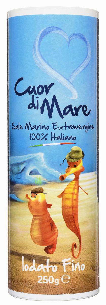 Cuor di Mare cоль морская йодированная мелкого помола, 250 гTZ288373054Соль морская йодированная мелкого помола Cuor di Mare предназначена для пополнения пищевого рациона с дефицитом йода. Не содержит жиров, холестерола и сахара. Рекомендуется суточная доза до 3 г вместо обычной соли. Йод необходим как детям, так и взрослым. Йод способствует росту ребенка и помогает предотвратить йододефицитные заболевания, такие как дисфункция щитовидной железы. Йодированная соль может входить в состав любой сбалансированной диеты, а также использоваться вместо поваренной. Линия Cuor di Mare является первой 100% итальянской солью первой очистки. Ее частицы кропотливо отобраны и подвергнуты нескольким этапам обработки. В результате получается уникальная, высоко растворимая соль с интенсивным, но нежным вкусом.