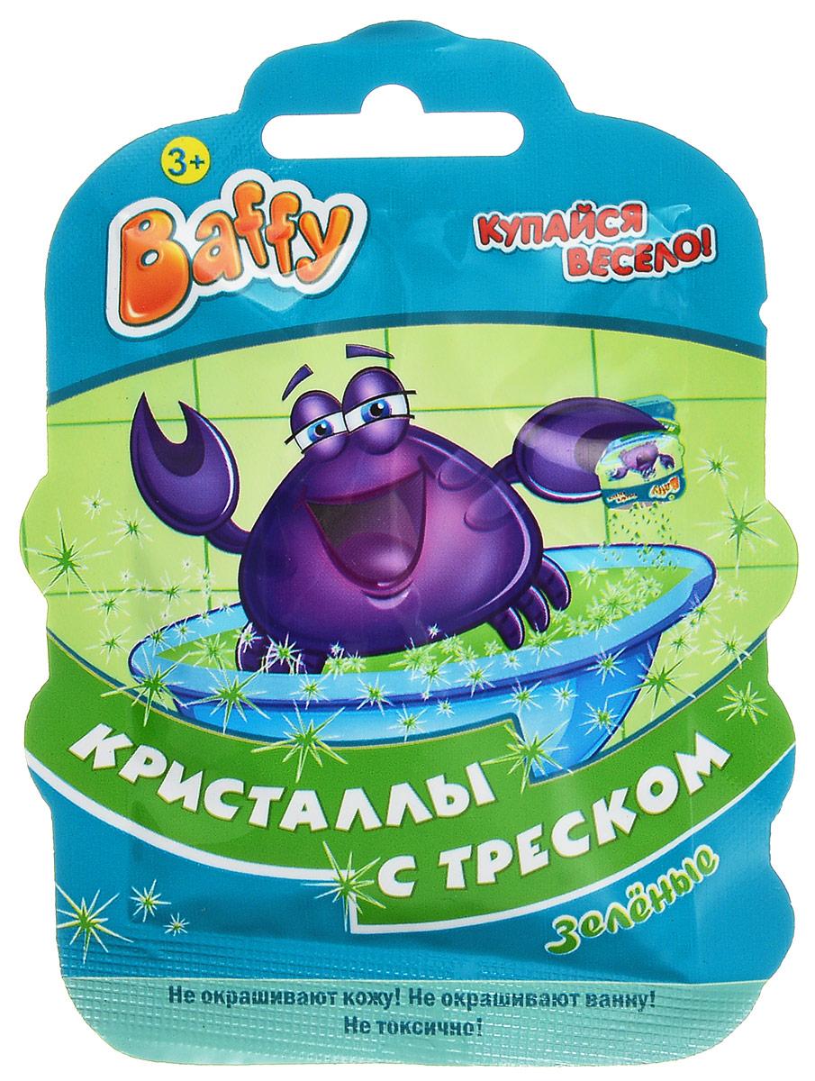 Baffy Соль для ванны Кристаллы с треском цвет зеленыйD0104_зеленыйКупание в ванне превратится в интересную увлекательную игру с помощью соли для ванны Baffy Кристаллы с треском. Кристаллы соли не только окрашивают воду, но и удивительно потрескивают при взаимодействии с водой. Просто добавьте кристаллы в воду и наблюдайте за трещащим цветным представлением! Не окрашивает кожу и ванну. Безопасно для кожи ребенка. Вес: 10 гр.