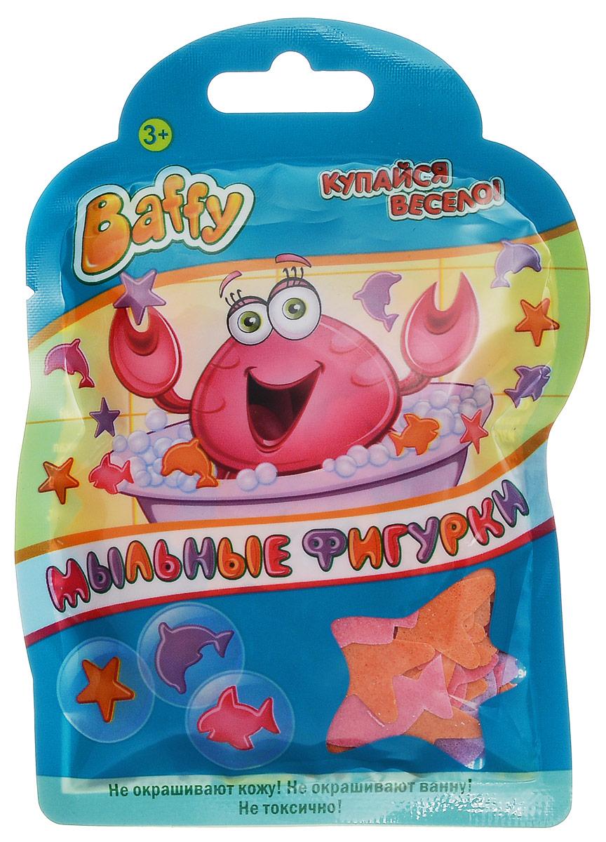 Baffy Мыльные фигурки цвет розовый оранжевый фиолетовыйD0103_розовый, оранжевый, фиолетовыйМыльные фигурки Baffy превратят купание в ванне в интересную, увлекательную игру. Фигурки можно клеить на детскую кожу, украшать стенку ванны, а также высыпать в воду и играть с ними. Фигурки хорошо мылятся и не окрашивают кожу и ванну. Безопасны для кожи ребенка. Вес: 8 гр.