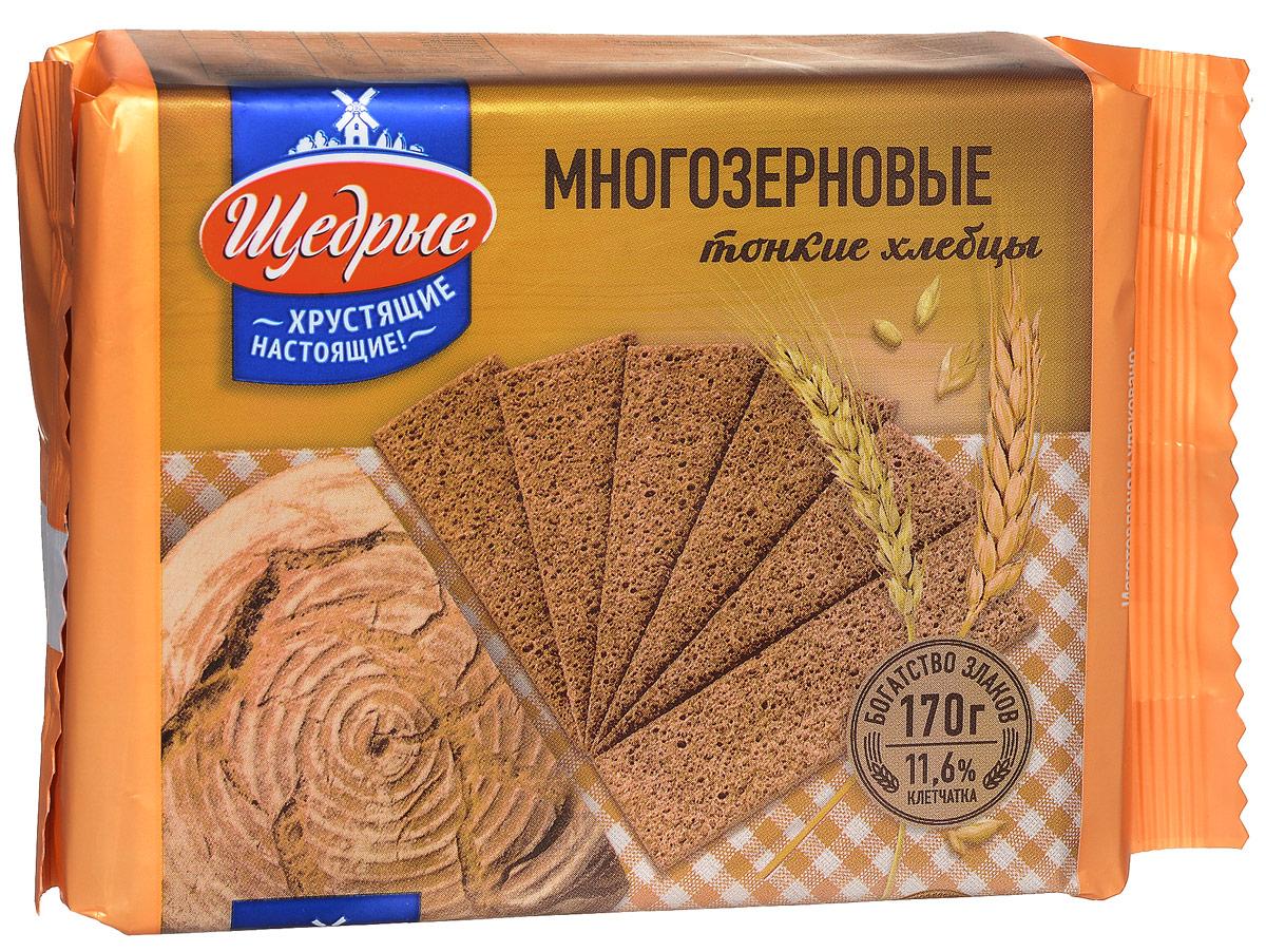 Щедрые хлебцы тонкие многозерновые, 170 г