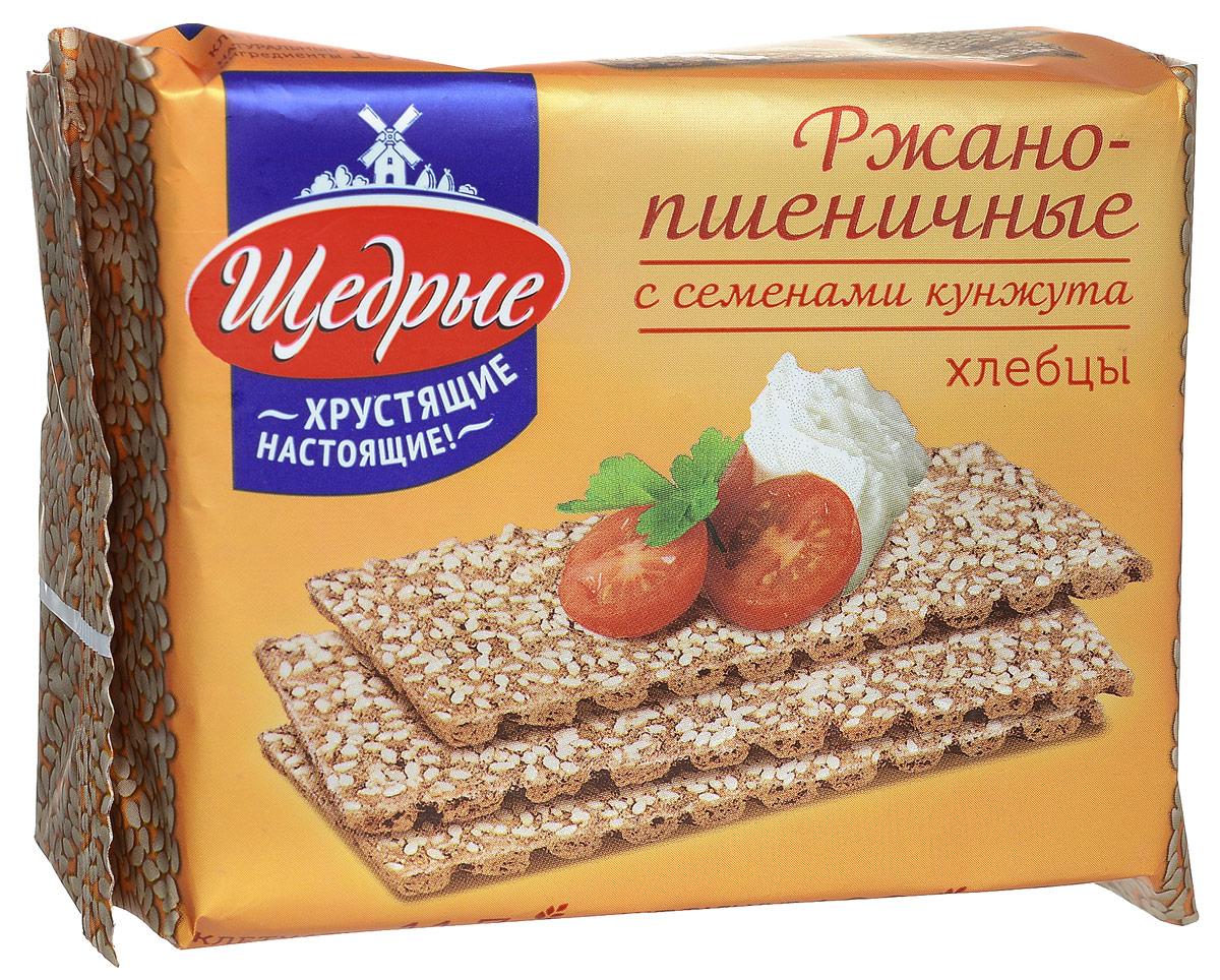 Щедрые хлебцы ржано-пшеничные с семенами кунжута, 200 г