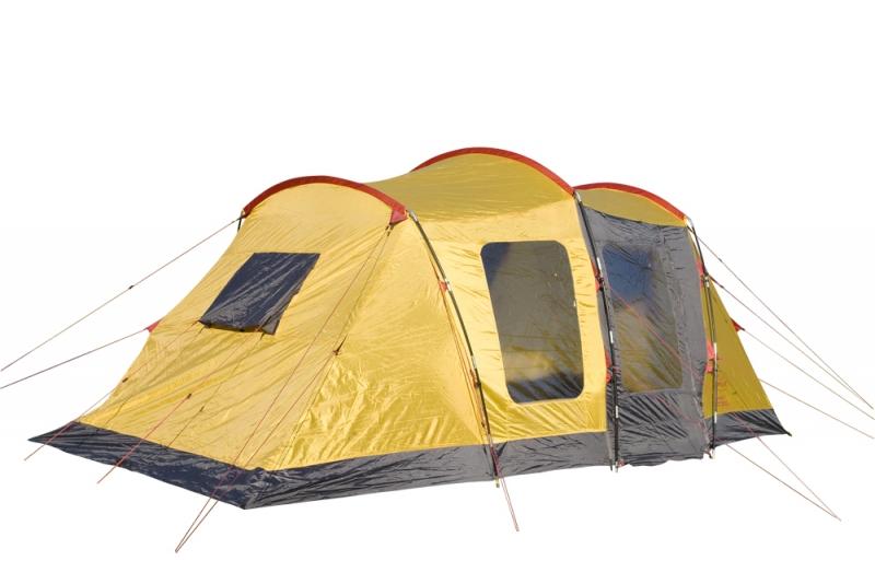 Палатка Campus Bordeaux 6, цвет: желтый, графитовый, красный10500024Общие характеристики Назначение: Кемпинг Внутренняя палатка: Есть Количество мест: 6 Тип установки каркаса: Внешний Геометрия: Полубочка Конструкция Количество комнат: 2 Количество входов во внутреннею палатку: 1 Возможность крепления фонарика: Есть Вентиляционные окна: Есть Навес: Есть Внутренние карманы для мелочей: Есть Защита Водонепроницаемость тента: 3000 мм. водяного столба Водонепроницаемость дна: 10000 мм. водяного столба Герметизация швов: Есть Ветрозащитная/снегозащитная юбка: Есть Москитные сетки: Есть Защита от ультрафиолета: Есть Материалы Материал дуг: Фиберглас Материал внутренней палатки: «дышащий» полиэстер Материал дна: Армированный полиэтилен Материал тента: Poliester 190 T Габариты и вес Вес: 15.6 кг Размеры внутренней палатки ширина: 210 см Размеры внутренней палатки длина: 210 см Размеры внутренней палатки высота: 205 см...