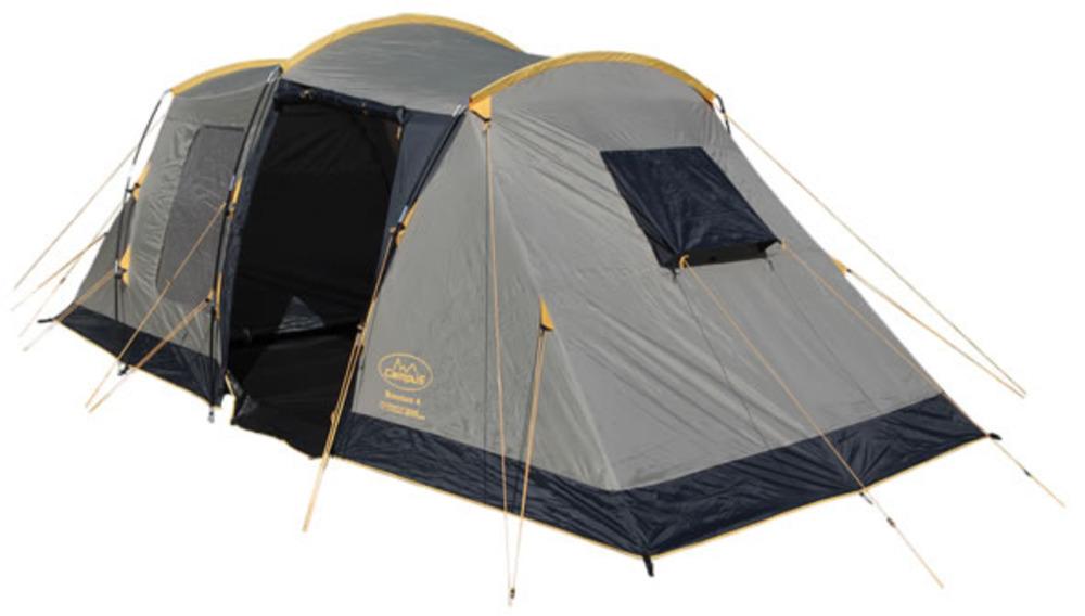 Палатка Campus Bordeaux 6, цвет: бежевый, графитовый, желтый10500025Современная и практичная палатка с неповторимым дизайном. Высокая в тамбуре, огромная кемпинговая палатка, Большой тамбур, в котором можно стоять в полный рост. Подвесные спальни, пространство для вещей, простота установки и устойчивая конструкция - вот основные преимущества данной модели. Материал дна: полиэтилен. Материал тента: Weather Weave 3000 Plus (Polyester 190T). Материал внутренней палатки: дышащий полиэстер. Москитные сетки: есть. Внутренняя палатка: есть. Тип каркаса: внешний. Герметизация швов: проклеенные. Размеры внешней палатки (тента) (ДхШхВ): 670 х 230 х 210 см. Размеры внутренней палатки (ДхШхВ): (210 х 210 см) х 2.