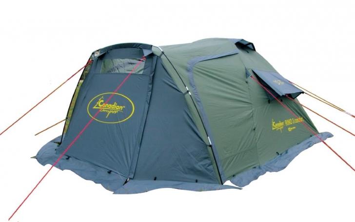 Палатка Canadian Camper RINO 3 comfort, цвет: зеленый, серый