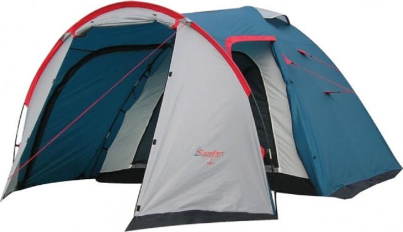 Палатка Canadian Camper RINO 4, цвет: белый, синий, красный
