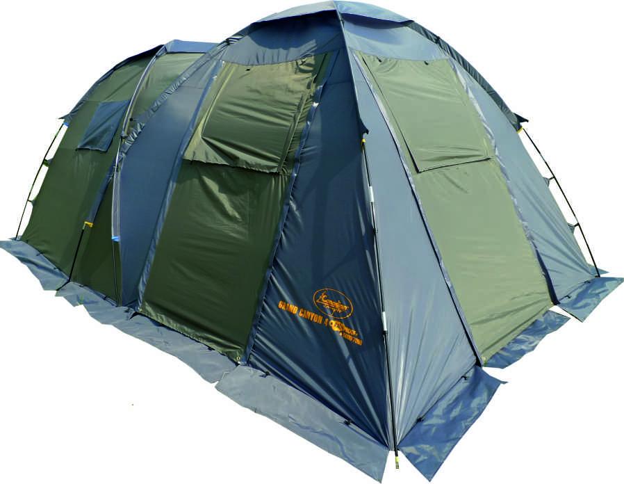 Палатка Canadian Camper GRAND CANYON 4, цвет: зеленый, серый30400020Общие характеристики Назначение: Кемпинг Внутренняя палатка: Есть Количество мест: 4 Тип установки каркаса: Внешний Геометрия: Полусфера Конструкция Количество комнат: 2 Количество входов во внутреннею палатку: 2 Возможность крепления фонарика: Есть Вентиляционные окна: Есть Навес: Есть Защита Водонепроницаемость тента: 5000мм. водяного столба Водонепроницаемость дна: 7000мм. водяного столба Герметизация швов: Есть Ветрозащитная/снегозащитная юбка: Есть Москитные сетки: Есть Защита от ультрафиолета: Есть Материалы Материал дуг: Фиберглас Материал внутренней палатки: Дышащий полиэстер Материал дна: Синтетика Материал тента: Синтетика Габариты и вес Вес: 11.2кг Размеры внутренней палатки ширина: 240см Размеры внутренней палатки длина: 240см Размеры внутренней палатки высота: 170см Размеры внешней палатки ширина: 260см Размеры внешней палатки длина: 460см Размеры внешней палатки высота: 190см