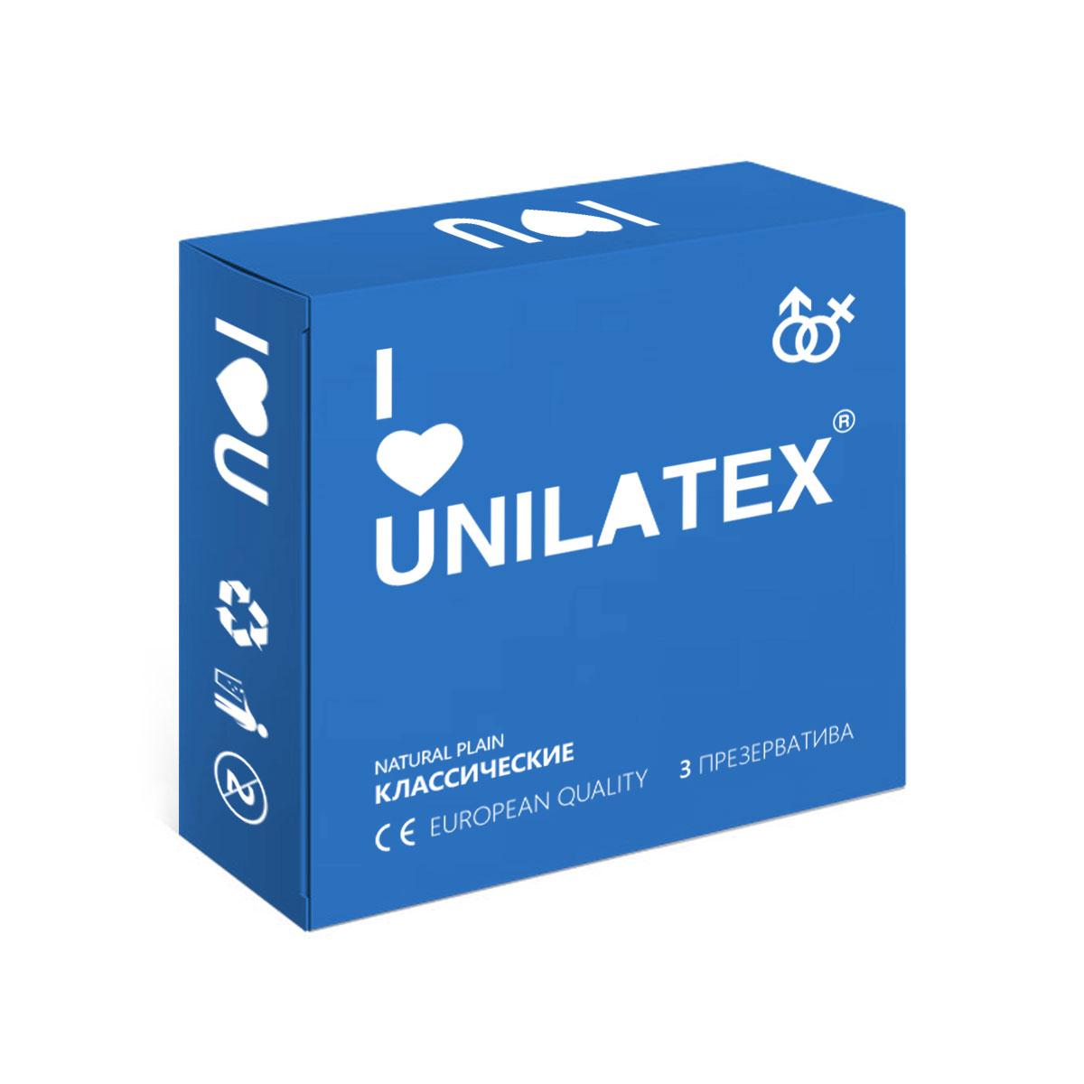 Презервативы Unilatex Natural Plain, 3 штRef. 3002Классические презервативы из натурального латекса телесного цвета, гладкой поверхностью, покрыты силиконовой смазкой с нейтральным ароматом.