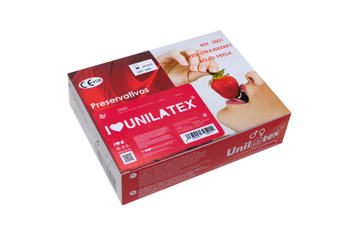 Презервативы Unilatex Red Strawberry, 144 шт