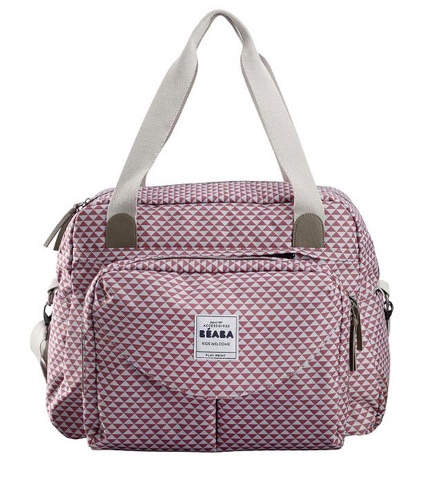 Beaba Сумка для мамы Changing Bag Geneva Ii цвет розовый белый 940200