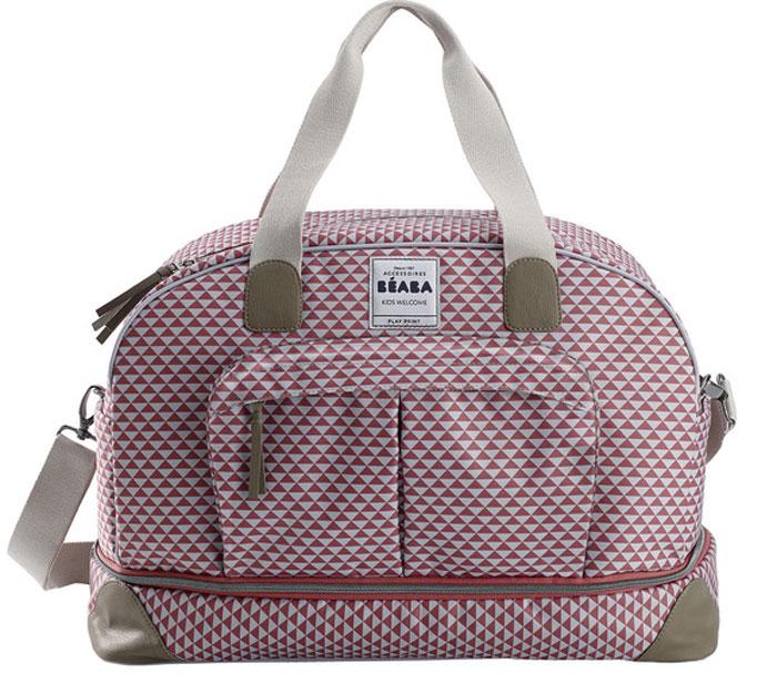 Beaba Сумка для мамы Changing Bag Amsterdam Ii цвет розовый белый940210