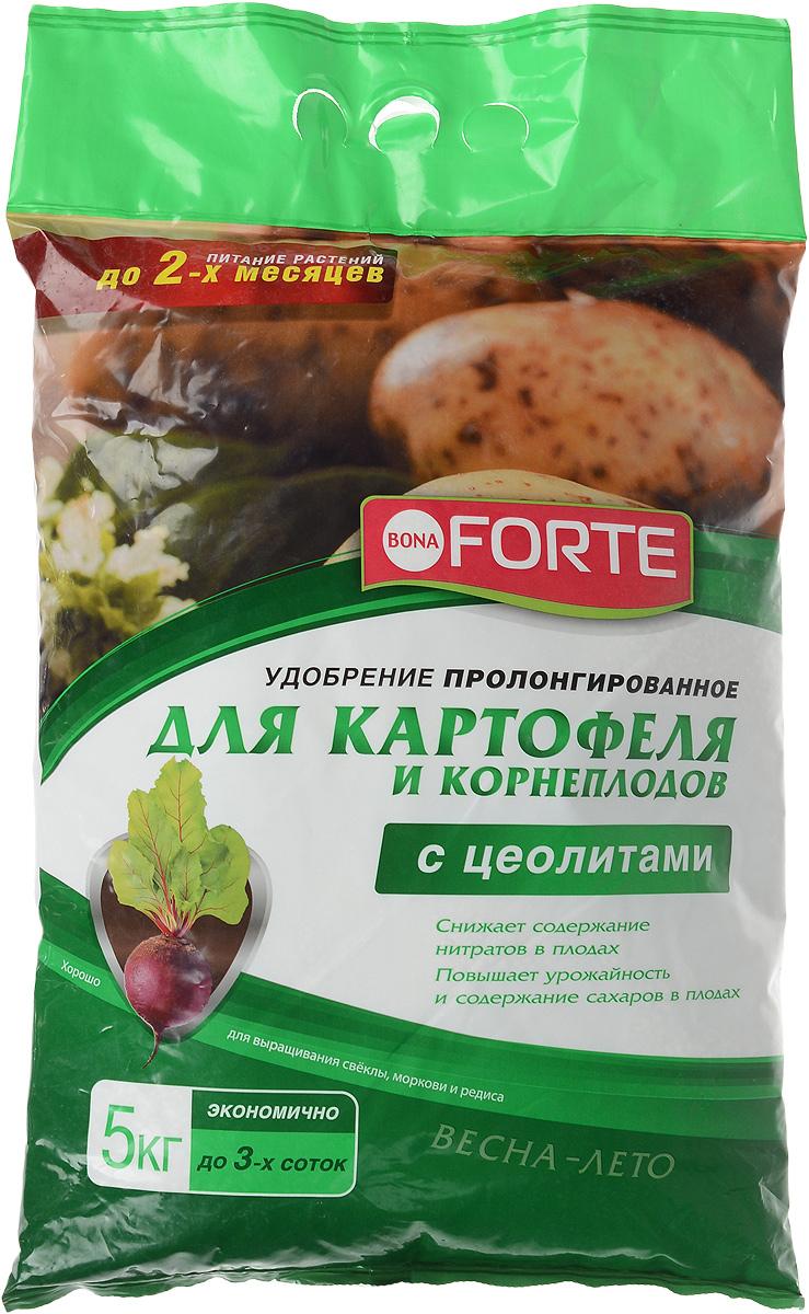 Удобрение пролонгированное Bona Forte, для картофеля и корнеплодов, с цеолитом, 5 кгBF-23-01-032-1Пролонгированное удобрение Bona Forte идеально подходит для картофеля, моркови, свеклы, редиса, репы и других корнеплодов. Снижает содержание нитратов в плодах, повышает урожайность и содержание сахаров в плодах. Удобрение дополнительно обогащено цеолитом, который имеет уникальные полезные качества: - Удерживает влагу и питательные вещества в корнеобитаемой зоне растений; - Снижает стрессы растений при посадке и пересадке; - Обеспечивает оптимальный воздушный режим даже при максимальном насыщении грунта водой; - Делает удобрения пролонгированными. Массовая доля питательных веществ, %: N - 3; P2O5 - 4; К2О - 4,5; MgО - 1. Область применения агрохимиката: для личных подсобных хозяйств. Группа агрохимиката по химической природе: удобрение минеральное смешанное. Состав: удобрение смешанное (тукосмесь). Товар сертифицирован.