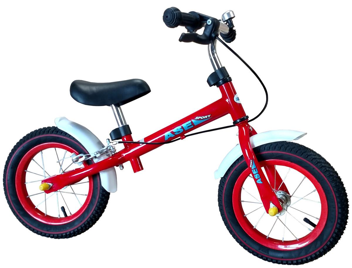 Ase-Sport Беговел с ручным тормозомASE-kids balance bike REDБеговел (беговой велосипед) предназначен для детей от 3-х лет. Имеет безопасную, прочную конструкцию, удобный руль и специальное сиденье. Они рассчитаны научить кататься ребенка на двухколесном велосипеде, минуя трехколесные и четырехколесные. Данная модель имеет современный дизайн, регулируемую высоту сиденья и рулевого колеса, мягкое и удобное сиденье, ручной тормоз, что упрощает управление. Подходят как для мальчиков, так и для девочек.