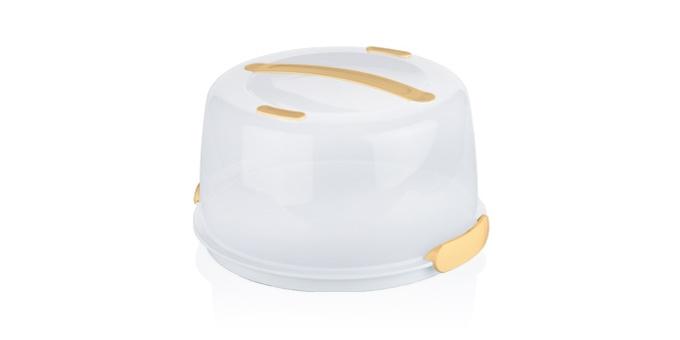 Тортовница-поднос с охлаждающим эффектом Tescoma Delicia, с крышкой, 34 х 34 х 18 см630840Охлаждающий поднос Tescoma Delicia изготовлен из высококачественного прочного пластика и оснащен прозрачной крышкой. Отлично подходит для переноса и подачи тортов, десертов, канапе, бутербродов, фруктов. Благодаря специальному вкладышу блюда дольше остаются охлажденными и свежими. Крышка фиксируется на подносе за счет двух зажимов, а удобная ручка позволяет переносить поднос с места на место. Можно мыть в посудомоечной машине кроме охлаждающей части. Диаметр подноса: 34 см. Высота подноса (с учетом крышки): 14 см.