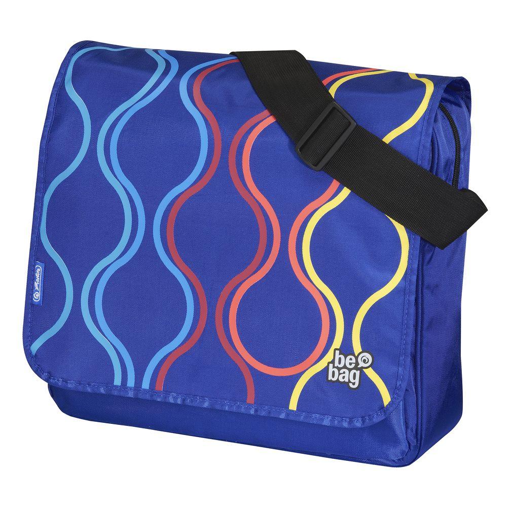 Herlitz Школьная сумка BE.BAG Bubbles11359577Прочная и вместительная сумка Be.bag смотрится элегантно в любой ситуации . Идеальный выбор для школы , университета или досуга. просторное внутреннее отделение ;большой наружный карман с органайзером для мобильного телефона , кошелька , ключей ;Съемный клапан . Клапан можно снимать и переворачивать . Также сумку можно использовать без клапана.