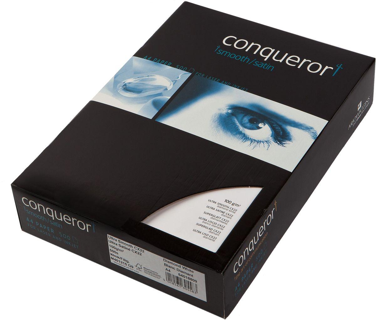 Conqueror Бумага для принтера супергладкая с водяным знаком 500 листов цвет белый