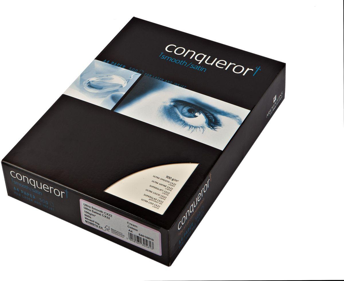 Conqueror Бумага для принтера супергладкая с водяным знаком 500 листов цвет кремовый