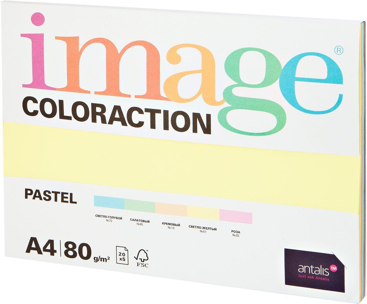 Image Бумага для принтера цветная Coloraction формат А4 100 листов цвет пастель