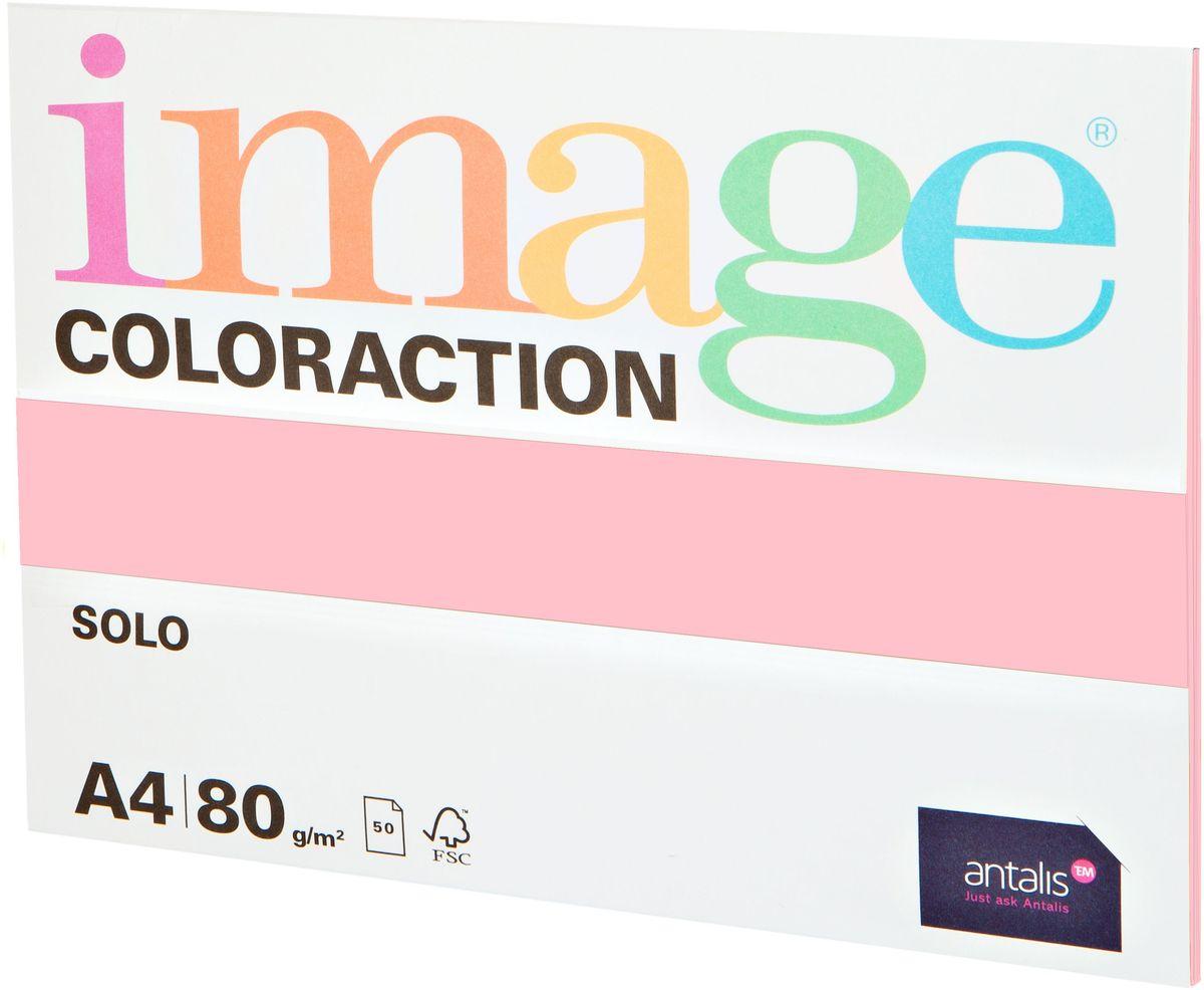 Image Бумага для принтера цветная Coloraction формат А4 50 листов цвет розовый