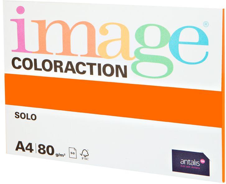 Image Бумага для принтера цветная Coloraction формат А4 50 листов цвет оранжевый