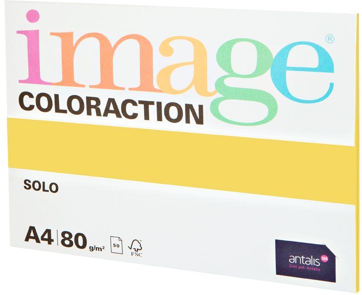 Image Бумага для принтера цветная Coloraction формат А4 50 листов цвет светло-желтый