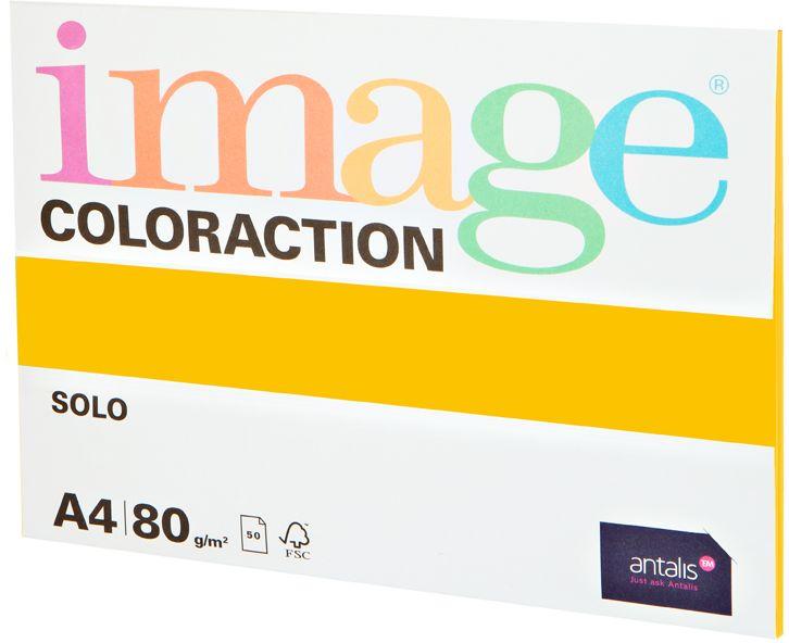 Image Бумага для принтера цветная Coloraction формат А4 50 листов цвет солнечно-желтый