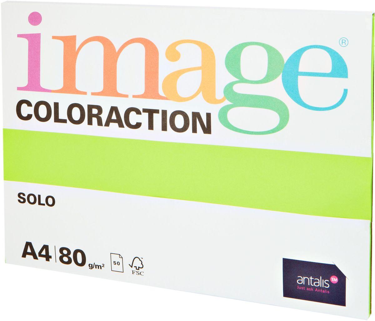 Image Бумага для принтера цветная Coloraction формат А4 50 листов цвет салатовый