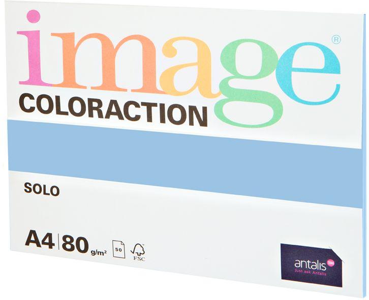 Image Бумага для принтера цветная Coloraction формат А4 50 листов цвет светло-голубой