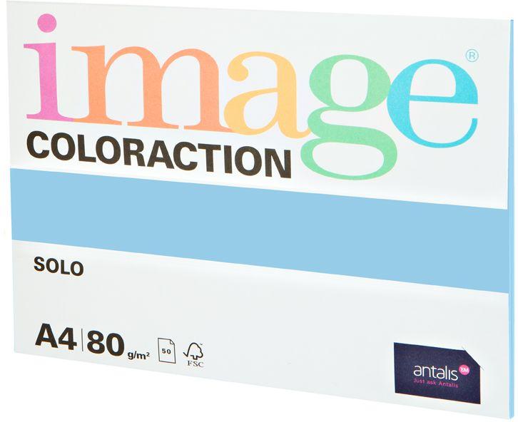 Image Бумага для принтера цветная Coloraction формат А4 50 листов цвет морская вода
