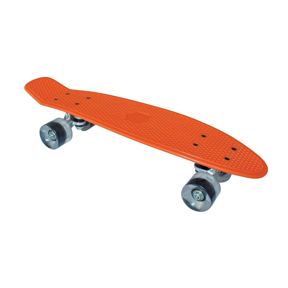 Скейтборд пластиковый Tempish Retro Buffy, цвет: оранжевый8592678027547Пени борд Tempish Buffy нагрузка до 100 кг