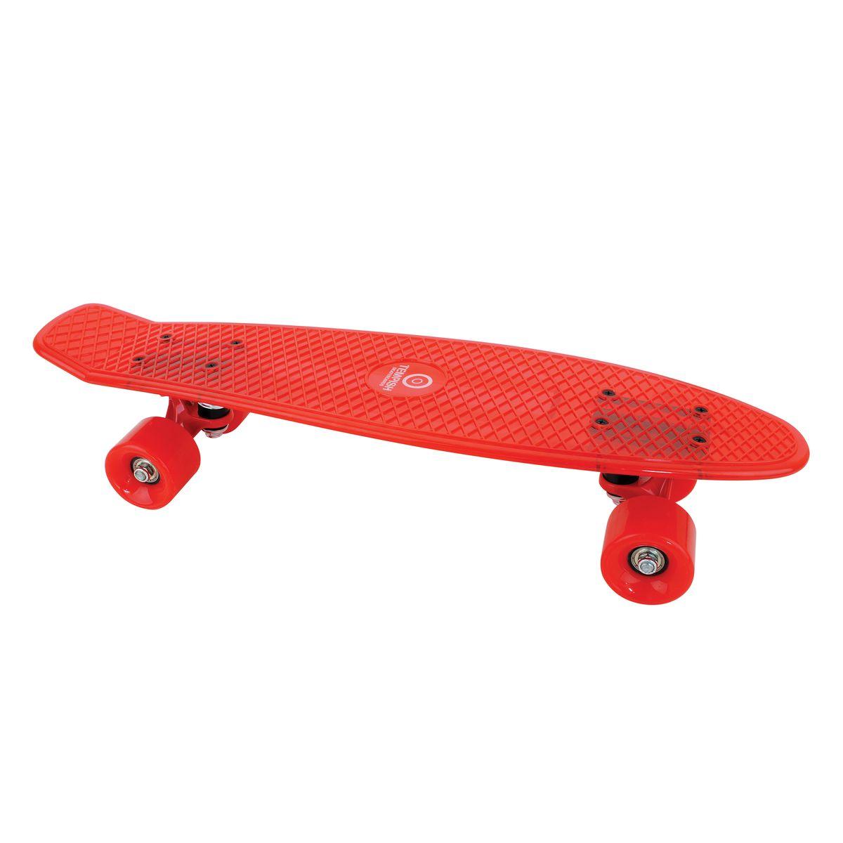 Скейтборд пластиковый Tempish Buffy Star, цвет: красный8592678058077Пени борд Tempish Buffy нагрузка до 100 кг