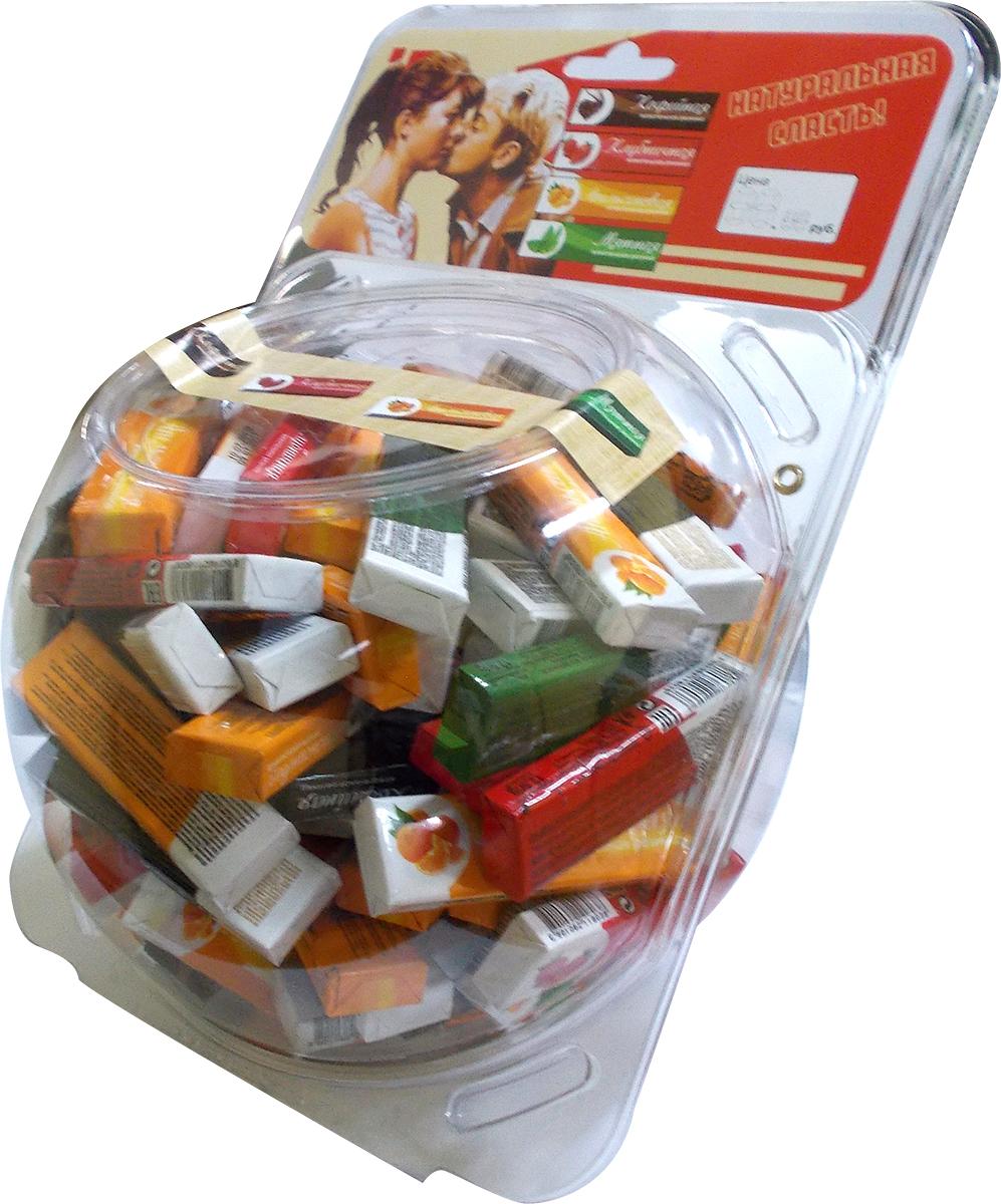 Plastinki жевательная резинка Ассорти 4 вкуса, 100 пачек по 5 пластинок (сфера)