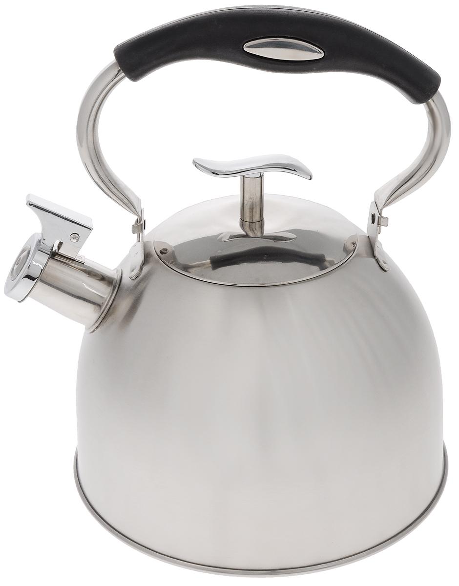 Чайник Mayer & Boch, со свистком, 3 л. 2142721427Чайник Mayer & Boch выполнен из нержавеющей стали высокой прочности. При кипячении сохраняет все полезные свойства воды. Весьма гигиеничен и устойчив к износу при длительном использовании. Гладкая и ровная поверхность существенно облегчает уход за посудой. Чайник оснащен свистком, который громко оповестит о закипании воды. Удобная эргономичная ручка выполнена из пластика. Такой чайник идеально впишется в интерьер любой кухни и станет замечательным подарком к любому случаю. Подходит для всех типов плит, включая индукционные. Можно мыть в посудомоечной машине. Диаметр чайника (по верхнему краю): 10 см. Высота чайника (с учетом ручки): 27 см. Высота чайника (без учета ручки и крышки): 13,5 см.