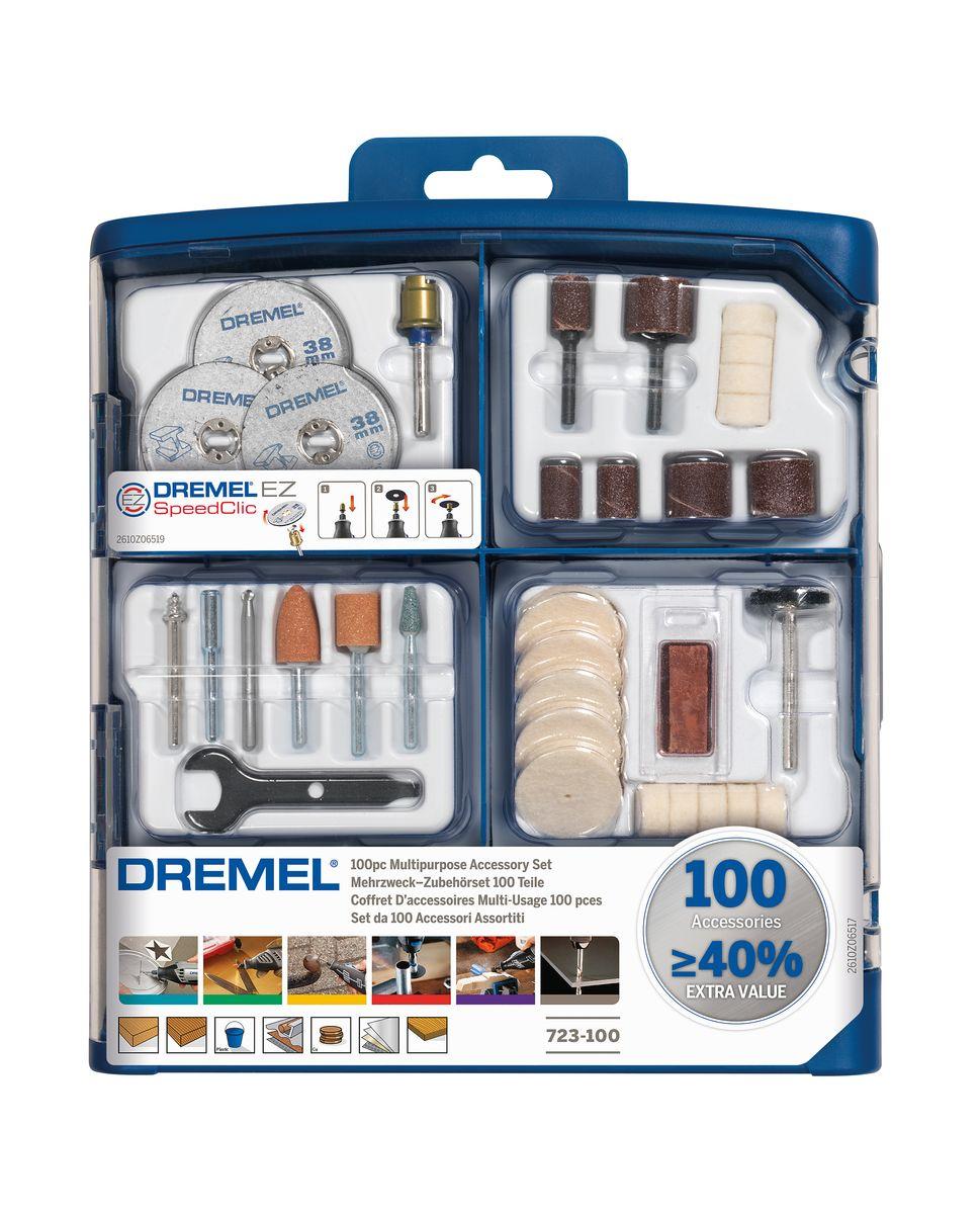 Набор оснастки Bosch Dremel, 100 шт