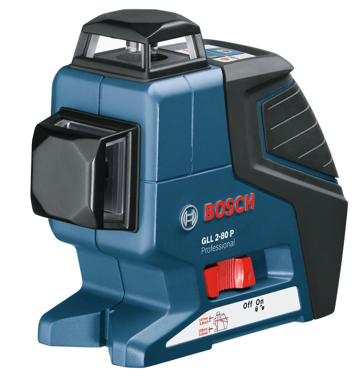 Лазерный нивелир Bosch GLL 2-80 P + BS 1501-4-081Технические характеристики Рабочая температура -10 - 45 °C Температура хранения -20 - 70 °C Класс лазера 2 Рабочий диапазон 40 м Рабочий диапазон с приемником 80 м Точность нивелирования ± 0,2 мм/м Комплектация: Вкладыш для кейса L-BOXX под инструмент Мишень Защитный чехол 4 батареи AA 1,5 В LR6